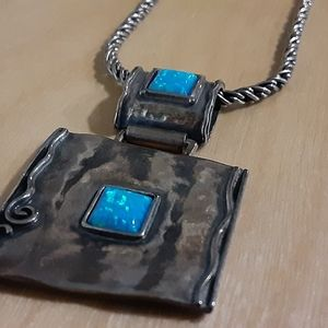 NWOT / sterling & opal artisan created necklace